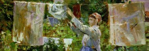 Detail of 'Peasant Hanging out the Washing' by Berthe Morisot, 1881